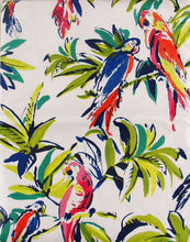 Watercolor Parrots Pvc Free Vinyl Flannel Back Tablecloth 52 x 70 Tropical