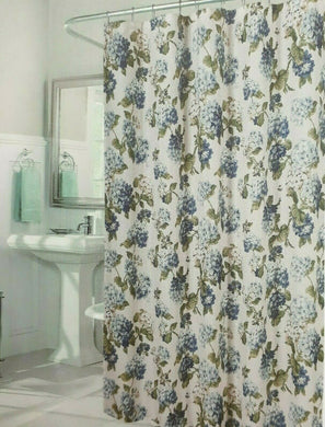 Waverly Arlington Heights Ivory and Blue Floral Shower Curtain