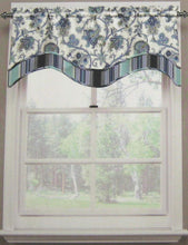 Waverly Traditions Tennyson Floral Valance Aegean Blue