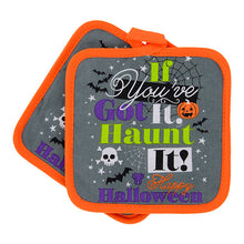 Halloween Got It Haunt It Kitchen Linen Set Towels Potholder Oven Mitt 6 pc