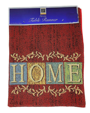 Windham Brick Red HOME Tapestry Table Runner 13 x 72 Country Cottage