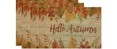 Windham Home Tapestry Placemats Set of 4 Hello Autumn Leaves