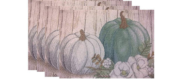 Windham Home Tapestry Placemats Set of 4 Harvest Pumpkins Fall