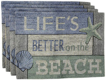 Windham Life Is Better On The Beach Tapestry Placemats Set of 4