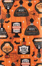 Witches Spooky Potions and Elixers Vinyl Flannel Back Tablecloth Various Sizes