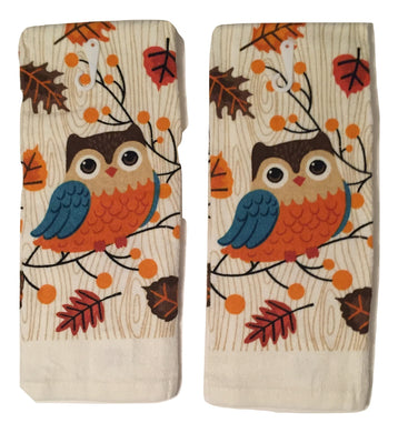 Woodland Owl Set of 2 Kitchen Towels
