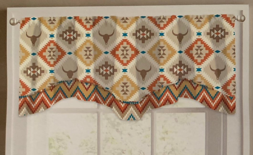 Toro Summit Stripe Valance Curtain 58x18 Southwestern