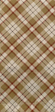 Woodland Plaid Tier Set 60 x 24 Lodge Cabin Curtain Sand Beige Kitchen Curtains