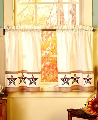 Country Stars 36L Kitchen Tier Set Curtains
