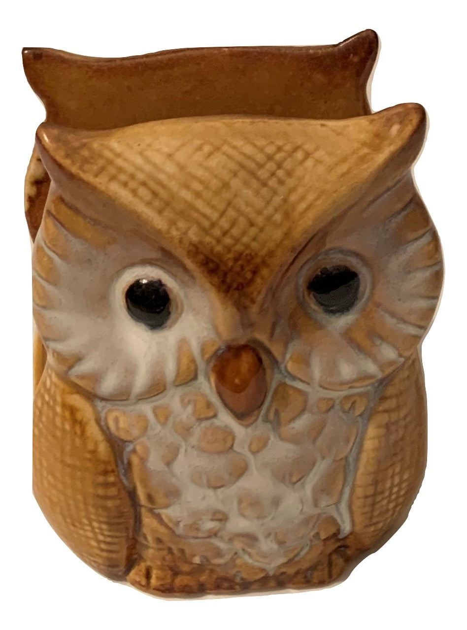 Ceramic Owl Napkin Holder Beige Fall Autumn