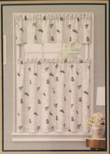 Ellery Pen Pal Kitchen Curtains 36L Tiers and Valance Set Typography Butterflies