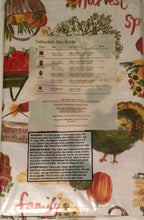 Autumn Harvest Family Friends Vinyl Flannel Back Tablecloth