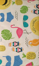 Elrene Destination Beach Vinyl Flannel Backed Tablecloth 52 x 70 Oblong