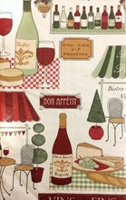 Elrene Bistro Vinyl Flannel Back Tablecloth 52 x 52 Wine Bread