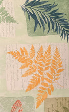 Blooming Ferns and Butterflies Vinyl Flannel Back Tablecloth 52 x 70 Elrene