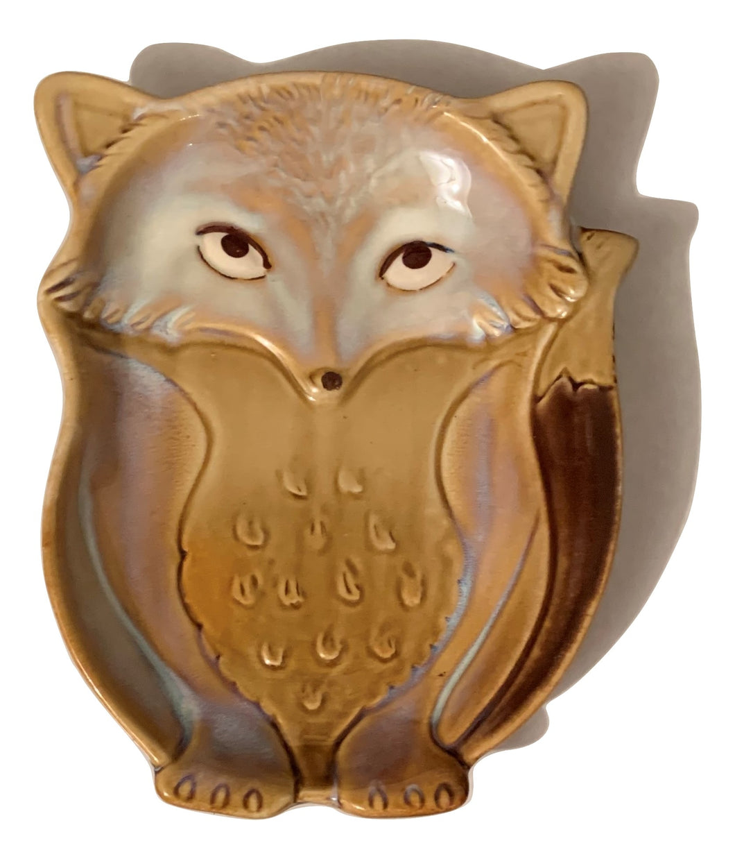 Natures Home Ceramic Fox Spoon Rest Beige