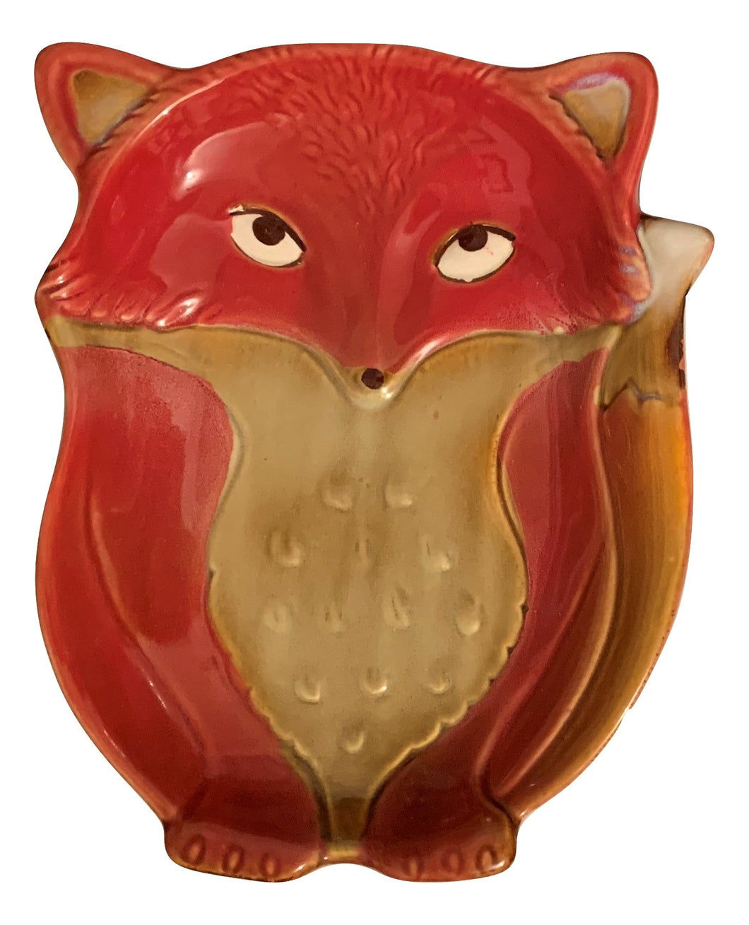 Natures Home Ceramic Fox Spoon Rest Red