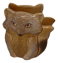 Natures Home Ceramic Fox Napkin Holder Beige Fall Autumn Woodland