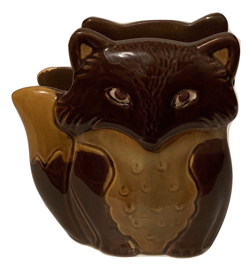 Natures Home Ceramic Fox Napkin Holder Brown Fall Autumn Woodland
