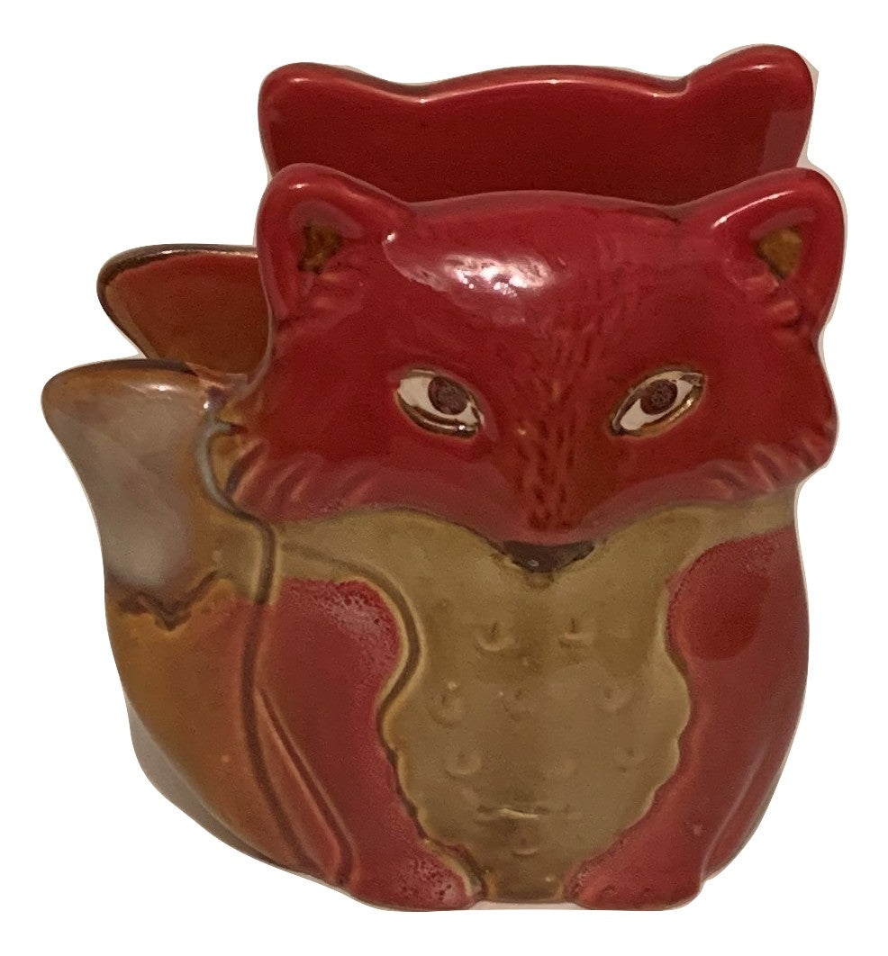 Natures Home Ceramic Fox Napkin Holder Red Fall Autumn Woodland