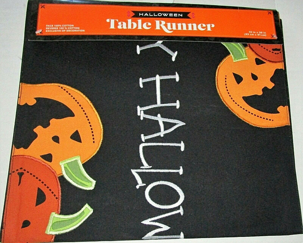 Halloween Table Runner 13 x 36 Jack O Lanterns Pumpkins
