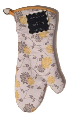 Laura Ashley Isadore Floral Yellow Silicone Oven Mitt