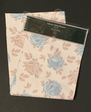 Laura Ashley Juliette Fabric Table Runner Blue Beige Floral Stripes 13 x 72