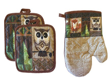 Owl Fox Forest 7 Piece Towel Set Towels Pot Holders Dishcloths Oven Mitt Woodland