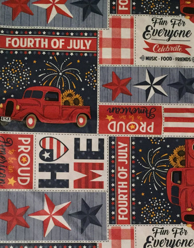 Patriotic Pround To Be An American Vinyl Flannel Back Tablecloth