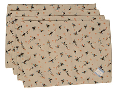Bees Tapestry Placemats Set of 4 Bumblebees