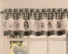 Pine Valley Valance Curtain Green Plaid Pinecones Cabin Lodge Northcrest