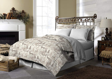 Pine Creek Northway Junction Comforter Set Deer Trees Fish Lodge Twin Cabin