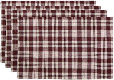Redwood Plaid Placemats Metro Farmhouse Set of 4