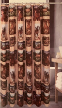 Love Horses Fabric Shower Curtain