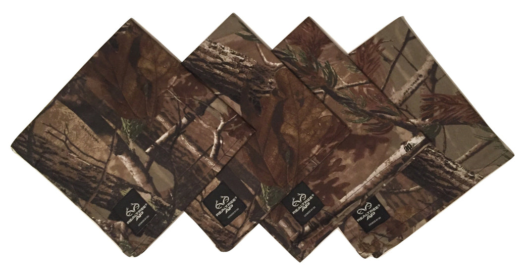 Realtree Ap Camo Camouflage Fabric Napkins Set of 4