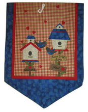 "Patriotic Americana Table Runner 13"" x 36"" Birdhouses"
