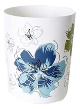 Saturday Knight Roberto Floral Blues Greens Bath Wastebasket