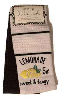 Kitchen Towels Set of 2 Lemonade Lemons Sweet and Tangy