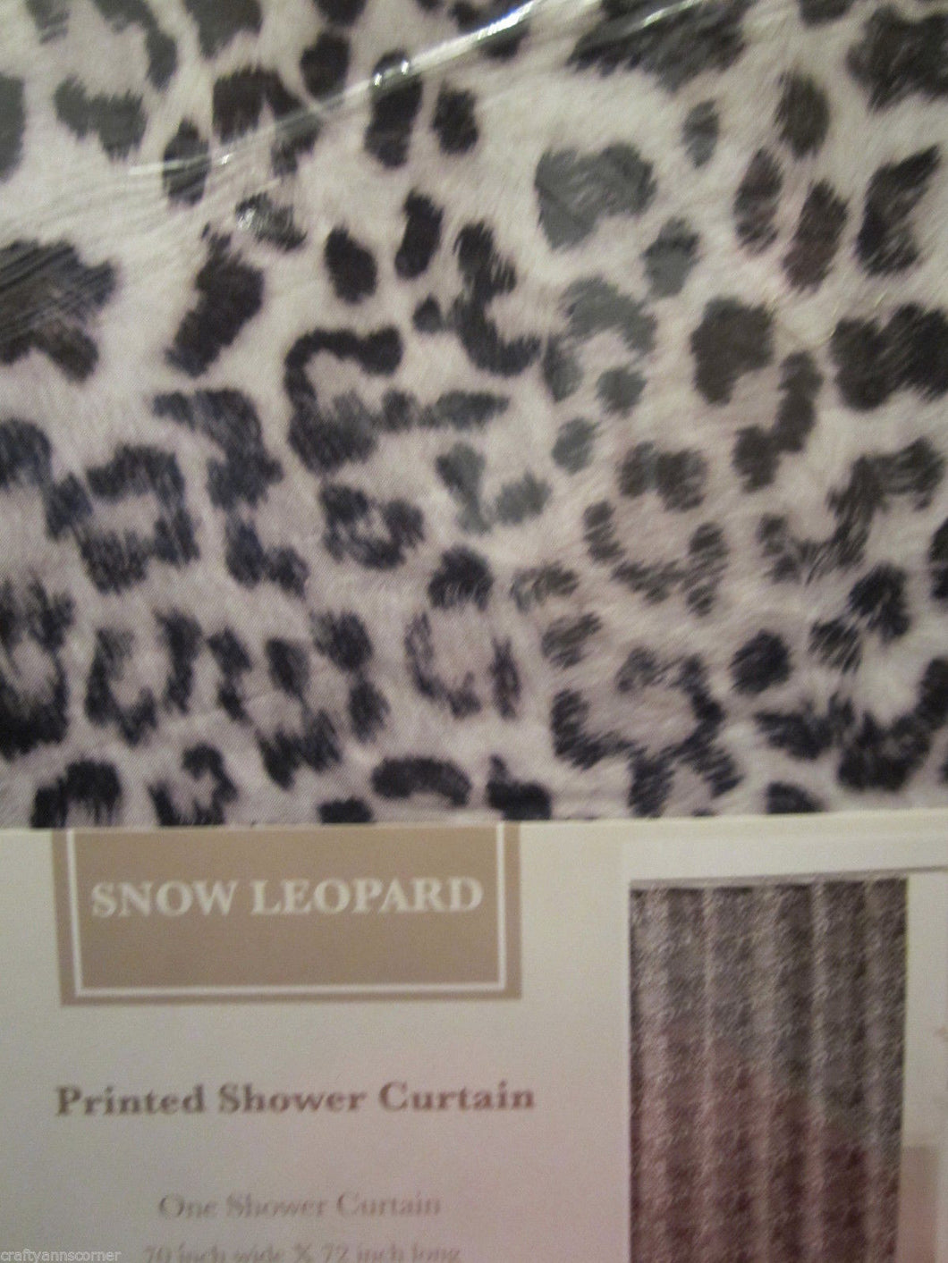 Animal Print Fabric Shower Curtain Snow Leopard Print 70