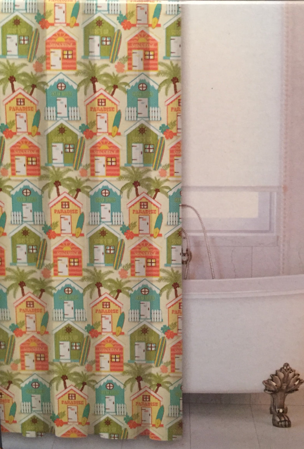 Surf Cabanas Fabric Shower Curtain