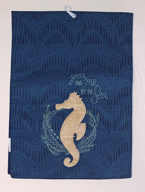 Coastal Seahorse Table Runner You And Me By The Sea Summer Beach 13 x 36