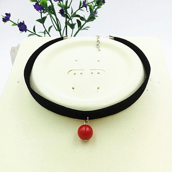 Fashion Black Rope Resin Pendant Choker Necklaces