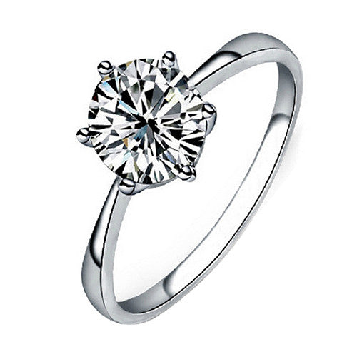 Zircon  Bridal Engagement Ring