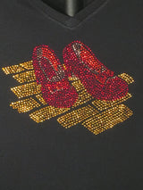 Rhinestone Ladies Ruby Red Slippers T-shirt