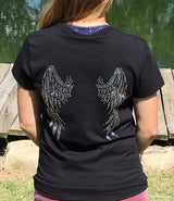 Ladies Rhinestone Angel Wings