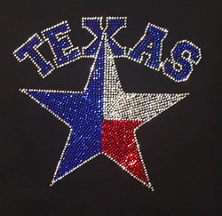 Rhinestone Texas Star, Ladies Rhinestone T-Shirt