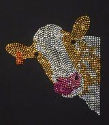 Rhinestone Cow Texas, Ladies Rhinestone T-Shirt