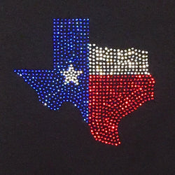 Rhinestone State of Texas, Ladies Rhinestone T-Shirt