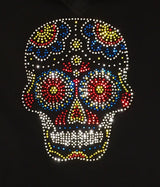 Ladies Rhinestone Sugar Skull Tee