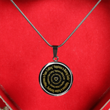 Happiness is Making Cards - Happiness is Rubber Stamping - Gold Necklace - Digital art by Paul